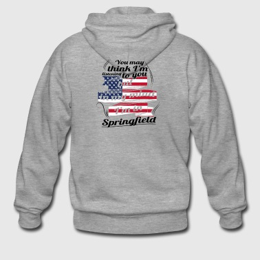 THERAPY HOLIDAY AMERICA USA TRAVEL Springfield - Men's Premium Hooded Jacket