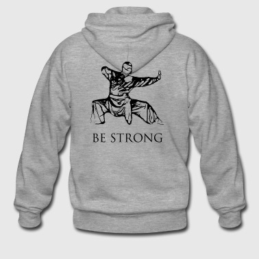Be strong - BLACK EDITION - Men's Premium Hooded Jacket