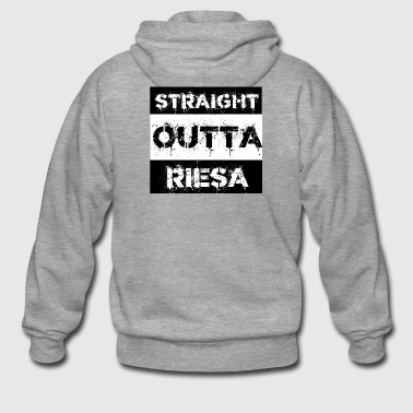 Straight Outta Riesa Sachsen Gift by - Premium Hettejakke for menn