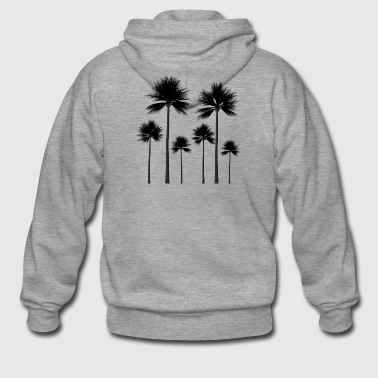 Palm trees silhouette summer gift - Men's Premium Hooded Jacket