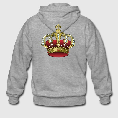 crown crown koenig king castle castle tower burg2 - Men's Premium Hooded Jacket