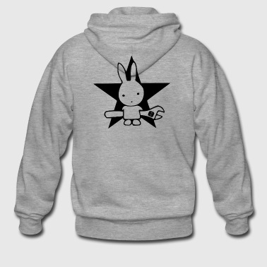 Bunny car - Men's Premium Hooded Jacket