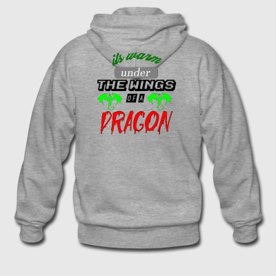 its warm under the wings of a dragon - Men's Premium Hooded Jacket