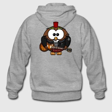 owl punk - Men's Premium Hooded Jacket