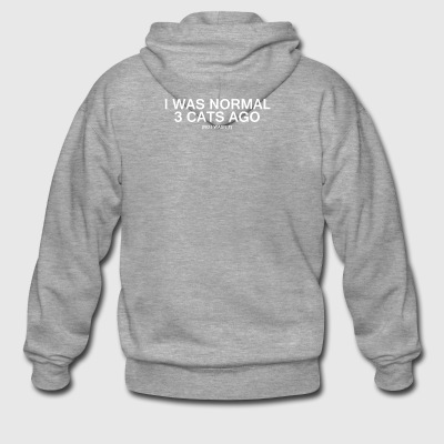 I was normal 3 cats ago - Men's Premium Hooded Jacket