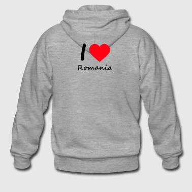 IloveRomania - Men's Premium Hooded Jacket