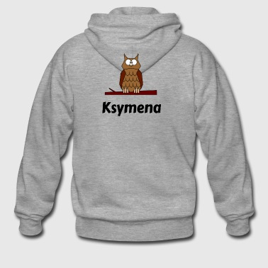Children's school Born owl motif Ksymena - Men's Premium Hooded Jacket