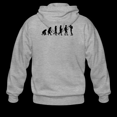 Evolution to the photographer T-shirt gift - Men's Premium Hooded Jacket