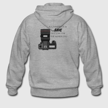 A camera is a save - Men's Premium Hooded Jacket