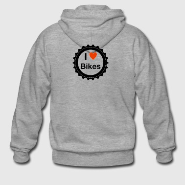 I love bikes - Men's Premium Hooded Jacket