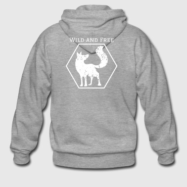 Wild and Free Fox Wild Animal Gift Idea Animal - Men's Premium Hooded Jacket