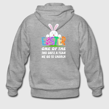 Church saying easter bunny happy easter gift bunny - Men's Premium Hooded Jacket