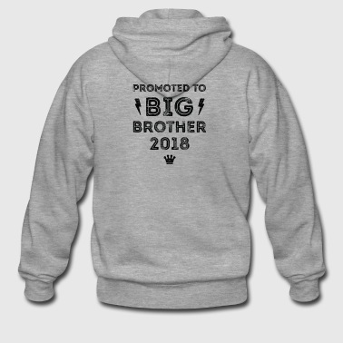 PROMOTED TO BIG BROTHER 2018 SHIRT Vintage Style - Men's Premium Hooded Jacket