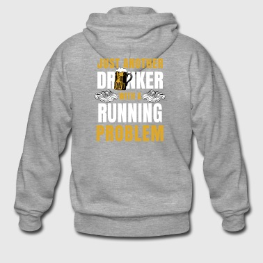 Running Running Jogging Drinker Runner Gift Beer - Men's Premium Hooded Jacket