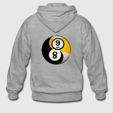 Yin Yang Billiard Pool Balls Eight And Nine - Men's Premium Hooded Jacket
