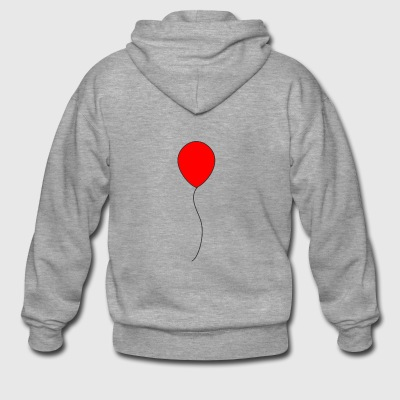 Horror Red balloon - regalo - Felpa con zip Premium da uomo