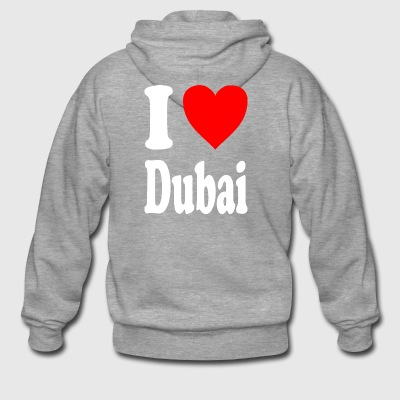 I love Dubai - Men's Premium Hooded Jacket