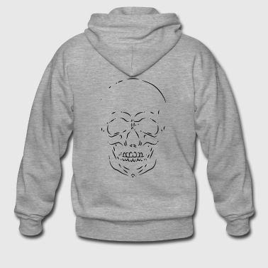 Skull sketch - Men's Premium Hooded Jacket