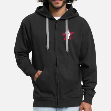 Communist revolution fist (for black shirts) - Men's Premium Hooded Jacket