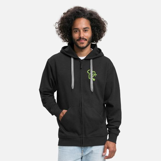 Symbol  Hoodies & Sweatshirts - The Bird Man by Cheerful Madness!! - Men's Premium Zip Hoodie black