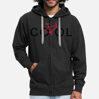 On Tour cool mountainbike - Men's Premium Zip Hoodie