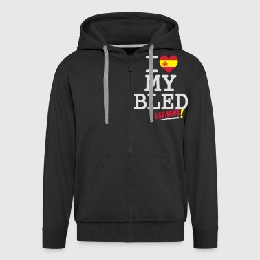 I love MY BLED Espagne - Men's Premium Hooded Jacket
