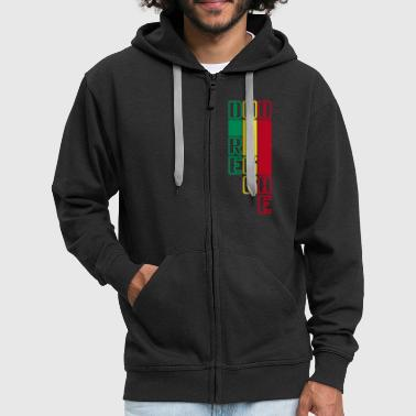 dub reggae - Men's Premium Hooded Jacket