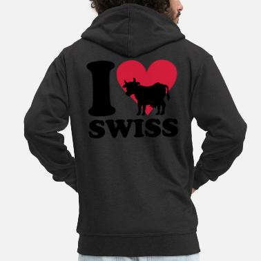 Swiss I love Swiss - Schweiz - Men's Premium Zip Hoodie