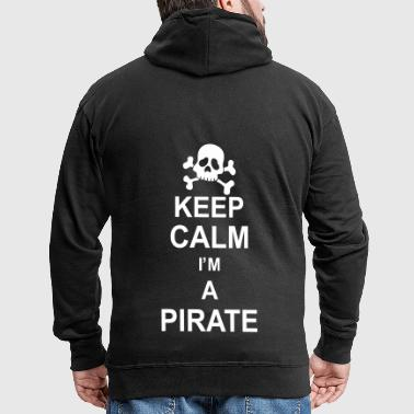 keep_calm_I'm_a_pirate_g1 - Felpa con zip Premium da uomo