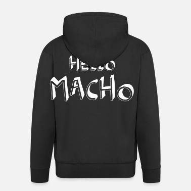 Hallo Macho coole Sprüche Männer Premium T Shirt | Spreadshirt