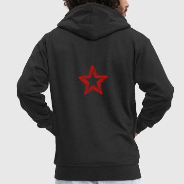 Red Star Star Red Shirt - Men's Premium Hooded Jacket