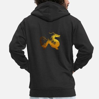Golden Dragon Golden Dragon - Men's Premium Zip Hoodie