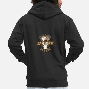 Pasadena Pasadena Garage Monkey Gift Idea - Men's Premium Zip Hoodie