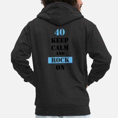 Keep Calm And Rock On 40 Keep calm and rock on - Männer Premium Kapuzenjacke