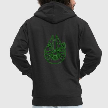 Millenium Falcon - Men's Premium Hooded Jacket