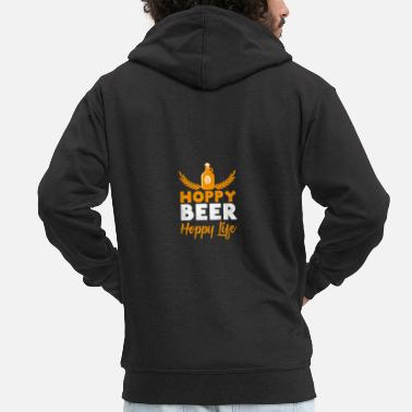 Hoppy Beer Hoppy Life Craftbeer Beer Gift - Men's Premium Hooded Jacket
