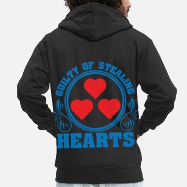 Cupido A Hearty Tee For Lovers Saying Guilty Of - Men's Premium Zip Hoodie