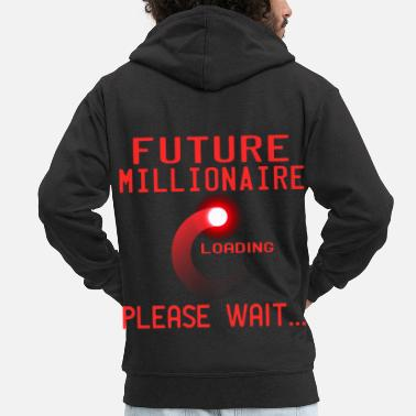 Cash A Nice Loading Tee For Waiting Persons Saying  - Men's Premium Zip Hoodie