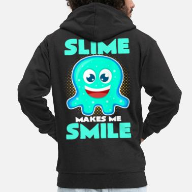 Slime Mucus makes me smile and laugh Slime - Men's Premium Hooded Jacket