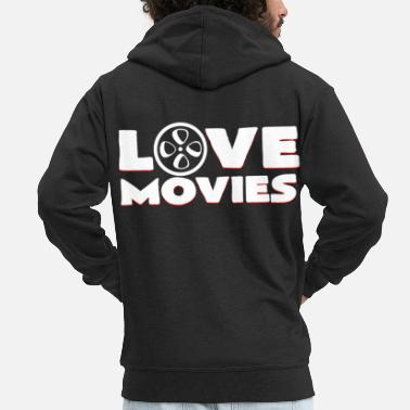 Cinema I love movies gift birthday movie role - Men's Premium Zip Hoodie