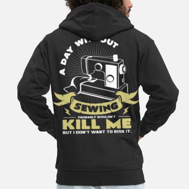Sewing Machine sewing machine - Men's Premium Zip Hoodie