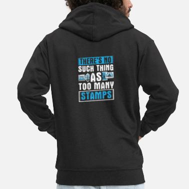 Post Perfect Stamps Design Quote No Such Thing - Men's Premium Zip Hoodie