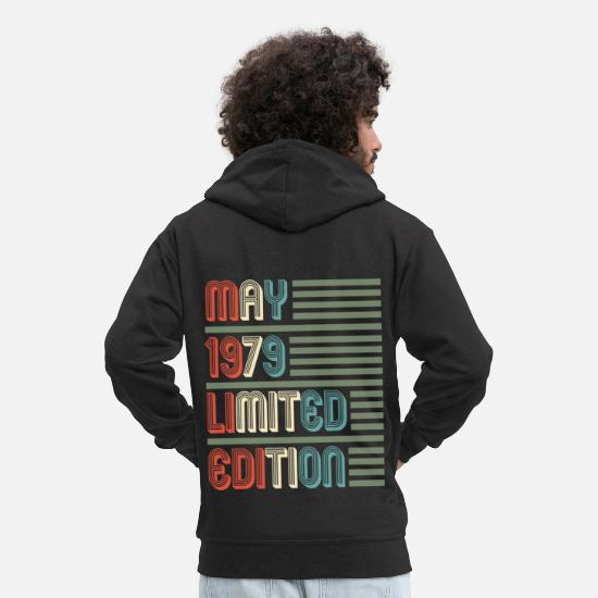 Date Hoodies & Sweatshirts - May Cool Vintage Retro Birthday Gift For Your - Men's Premium Zip Hoodie black