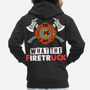 Fire Department Volunteer Fire Brigade - Men's Premium Zip Hoodie