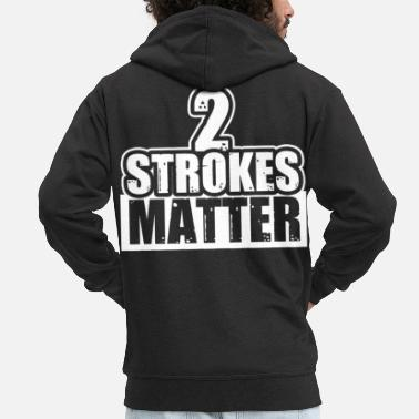 Motocross Two-stroke motorcycle motocross - Men's Premium Zip Hoodie