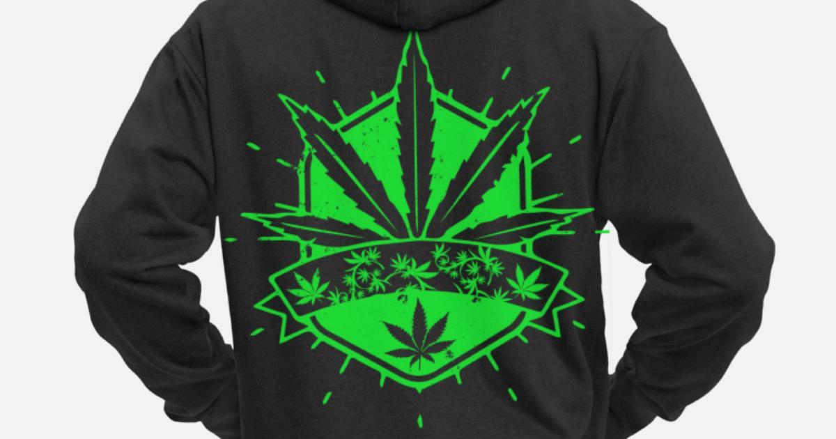 Hanfblatt Hoodie Herren Weed Cannabis Rasta Vintage Kapuzenpullover