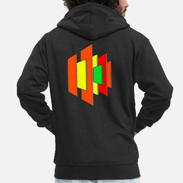 Abstract Shape Colorful Shapes Abstract shape Colorful shapes Gift - Men's Premium Zip Hoodie