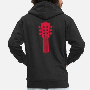 Punks guitar - Men's Premium Zip Hoodie