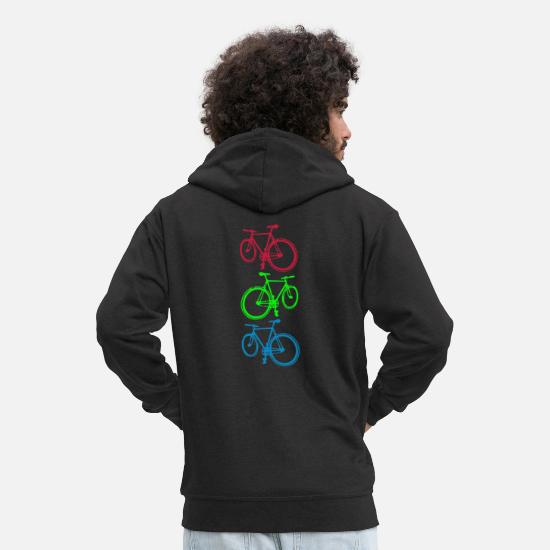 Cycling Hoodies & Sweatshirts - Cycling ( Radfahren) - Men's Premium Zip Hoodie black