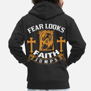 Church Jesus Christ God church gift - Men's Premium Zip Hoodie